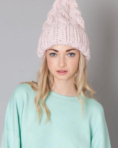 kate-grosses torsades bonnet tricoté main