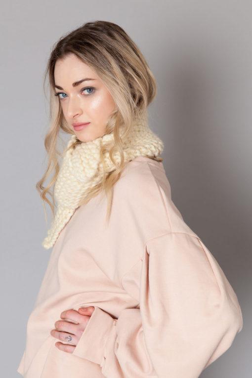 hand knit wool scarf konrad wisp