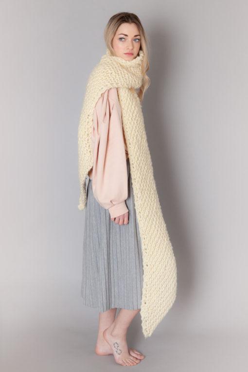 hand knit wool scarf krazy wisp