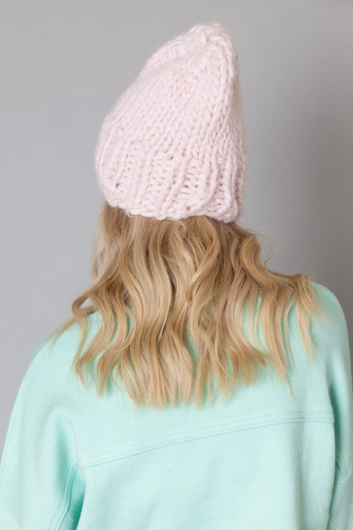 hand knit wool hat beanie kristina wisp