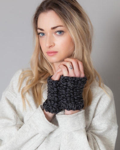 hand knit wool fingerless gloves carole wisp