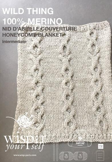 diy hand knit wool blanket natural wisp