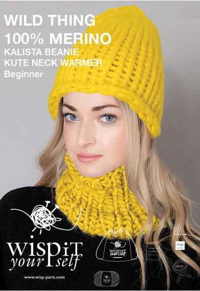hand knit wool diy hat beanie collar snood kalista kute sunflower wisp