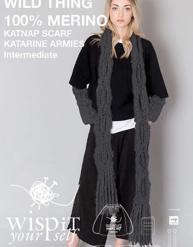 diy hand knit wool scarf wrist warmers katnap katerine smoke wisp