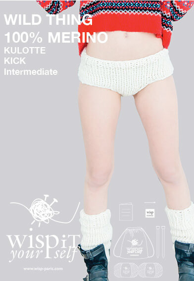 hand knit wool diy knickers leg warmers kick wisp