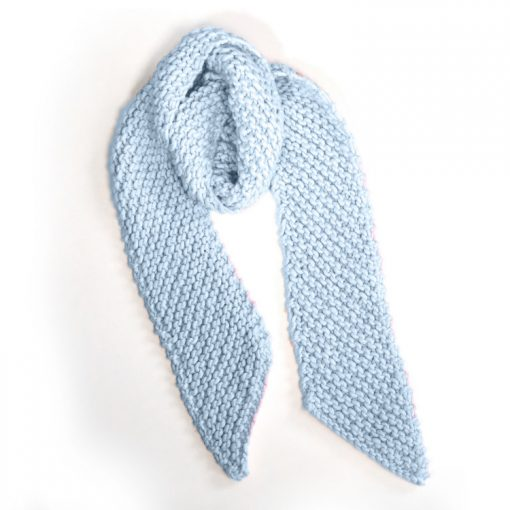 krazy knit scarf in icy blue