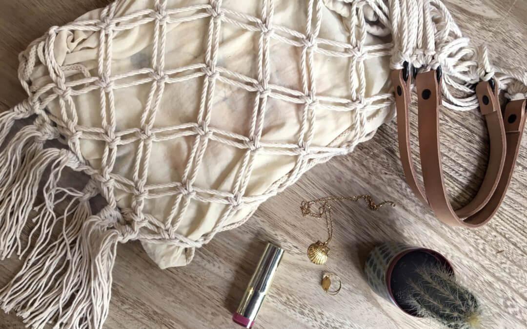Closing the bottom of your Wisp iT YourSelf Marrakech macramé bag