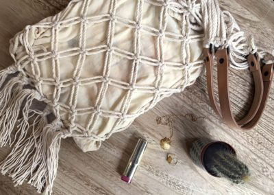 Closing the bottom of your Wisp iT YourSelf Marrakech macramé bag