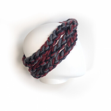 hand knit wool headband kiss mns wisp