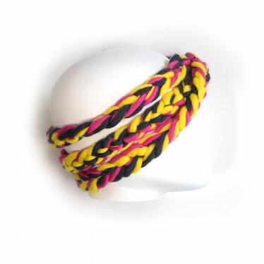 hand knit wool headband kiss sss wisp