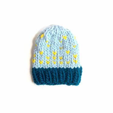hand knit wool beanie hat jasper isp wisp