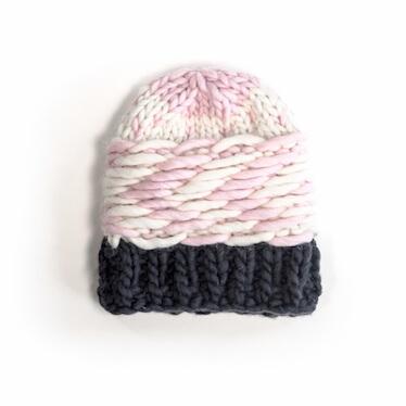 hand knit wool beanie hat jelly nsc wisp