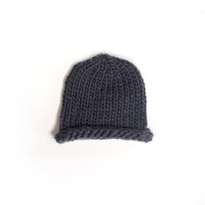 hand knit wool beanie hat kenny smoke wisp