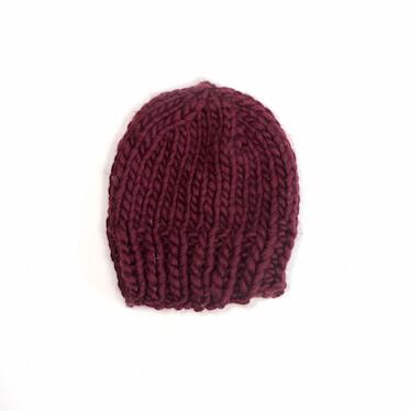 hand knit wool beanie hat kramer marsala wisphand knit wool socks sock it to me marsala wisp