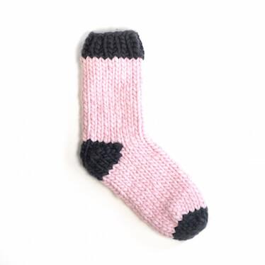 hand knit wool socks sock it to me chamallow wisp