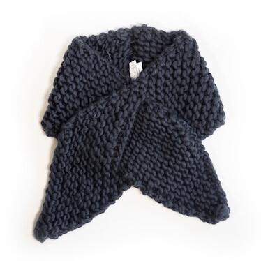hand knit wool scarf killing me softly smoke wisp