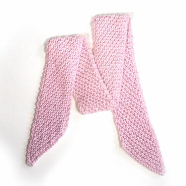 hand knit wool scarf kick chamallow wisp