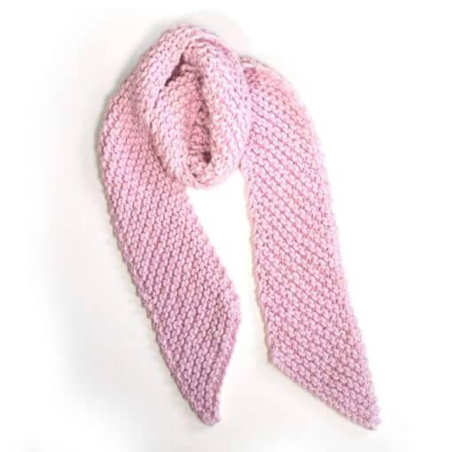 écharpe tricoté main en laine krazy wisp