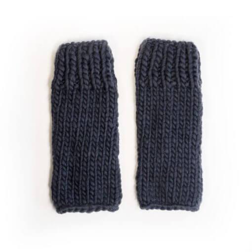 hand knit wool wrist leg warmers kick in the navy wisp