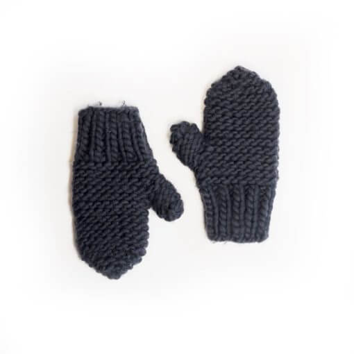 hand knit wool mitts katoucha in the navy wisp