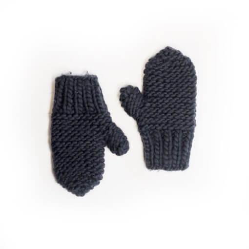 mouffles tricoté main 100% laine mérino handy andy wisp