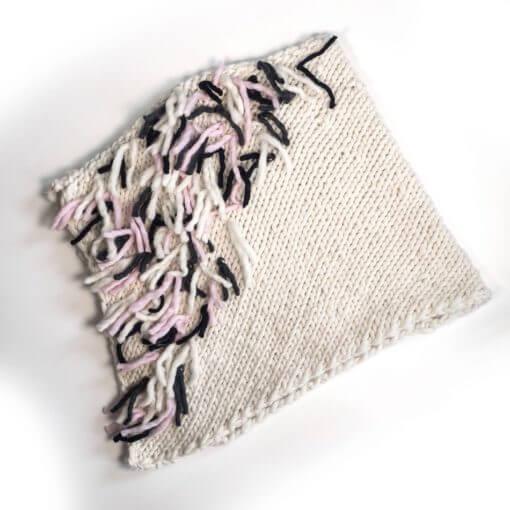 hand knit wool poncho jamiroquai natural wisp