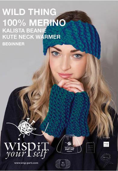 knit kit headband and mitaines in merino wool