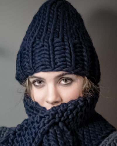chunky knitted hat wisp kramer navy