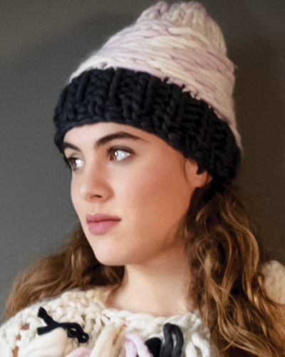knitted jacquard hat wisp jelly natcham