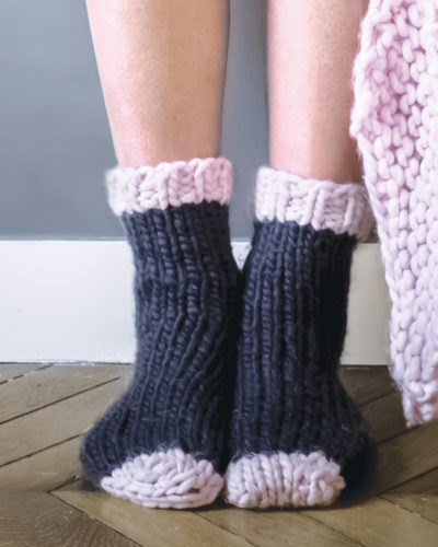 knitted socks wisp smoke cham