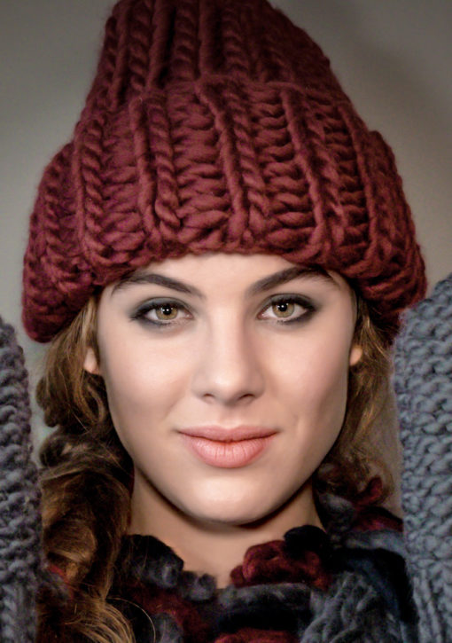 ribbed knitted hat wisp jackie marsala