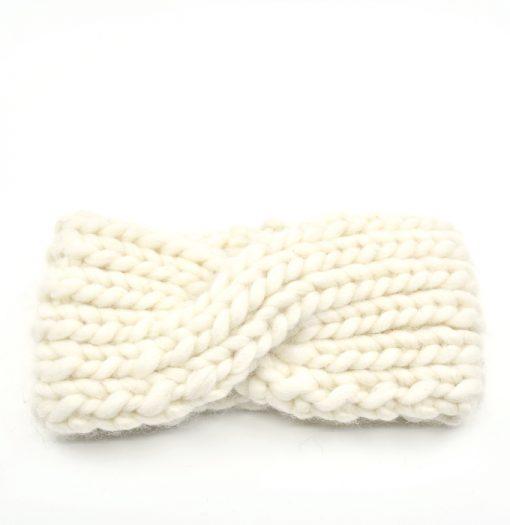 bandeau tricoté naturel