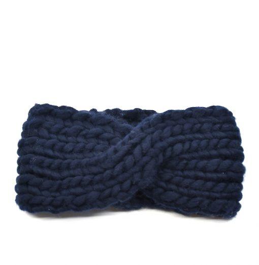 bandeau tricoté marine